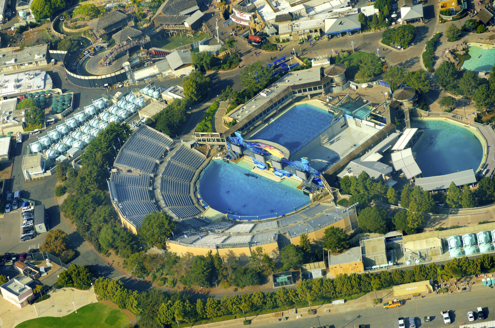 Aerial view of SeaWorld