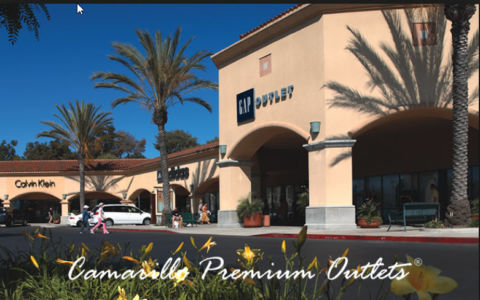Top Brand stores located at Camarillo Premium Outlets
