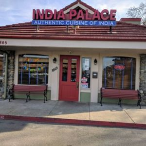 India Palace Sign Front Door